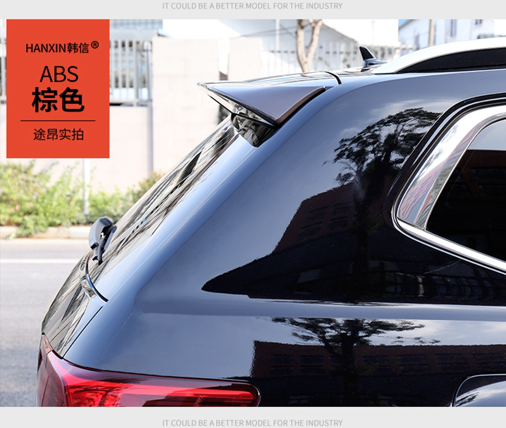 SHCHCG For Volkswagen VW Atlas Teramont 2017 2018 ABS Plastic Unpainted Color Rear Spoiler Tail Trunk Boot Rear Wing Decoration