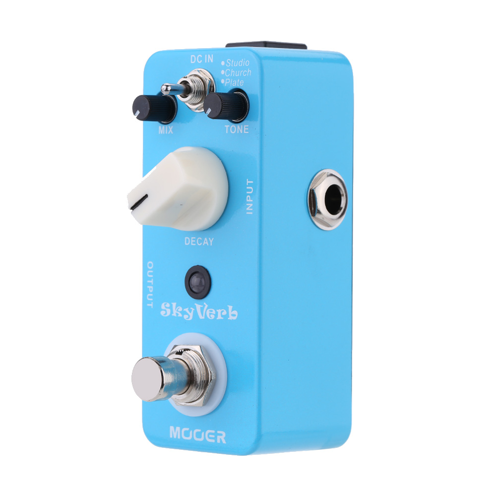 Mooer Sky Verb Micro Guitar Effect Pedal Mini Reverb Electric Guitar Pedal True Bypass Guitar Parts