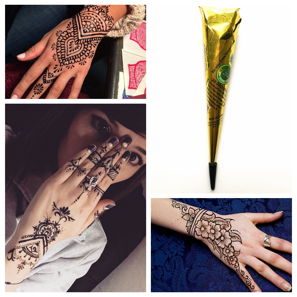 Henna Tattoo Color Brown: Healthy Non Toxic Natural Plant Pigment Brown Color Indian
