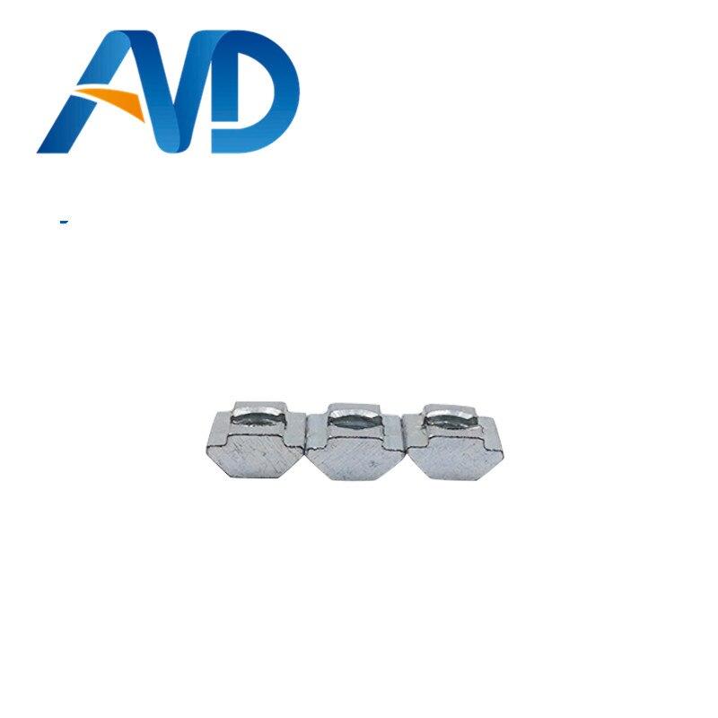 20 штук Т Гайка Блок квадратный Орехи M3 M4 M5 M6 для 2020 Алюминий профиль слот 6 Алюминий разъем доступа