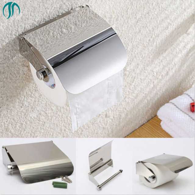 Wall Mounted Bathroom Toilet Roll Paper Holder Wc Rolhouder Sliver For Towels Stainless Steel