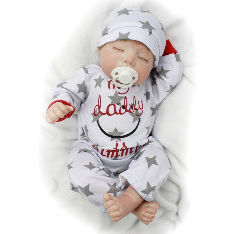 22/55cm Silicone Reborn Baby Doll Bebe Reborn Lifelike Reborn Babies Realistic Play House Toy Kids Birthday Gifts Brinquedos npkdoll bebe reborn baby doll realistic soft silicone reborn babies juguetes girl 22 inch 55cm adorable kids brinquedos toy
