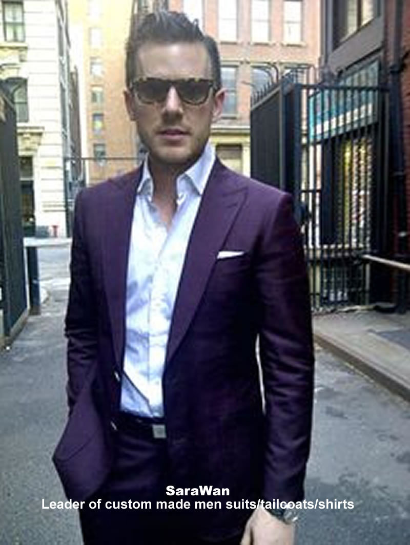 Aliexpress.com : Buy Purple Men Suit Custom Made Dark Purple Suits ...