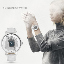 Unisex Gray Leather Novelty Waterproof Quartz Watch