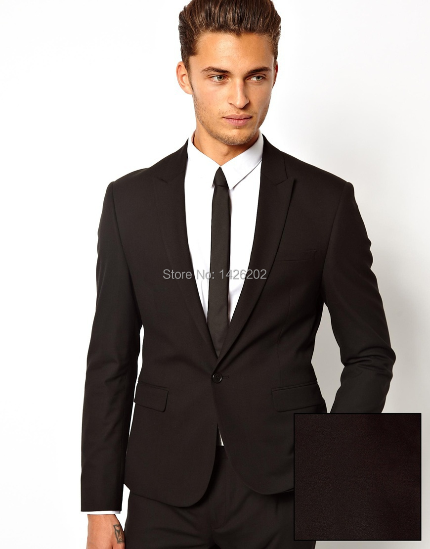 European and American Style Formal Men Suit jackets MJ 0025 Black ...