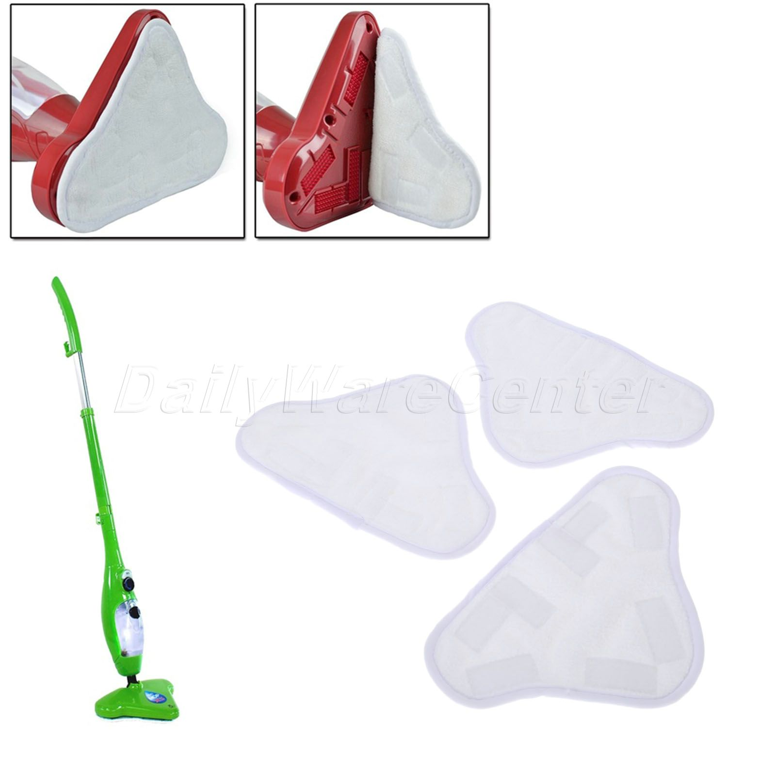 3Pcs/Set Microfiber Replacement Pads Washable Reusable Cleaning Cloth For X5 H2O Steam Mop Pads Kit Cleaning Tools High Quality