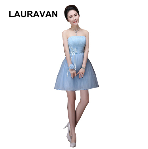 robe de soiree 2019 new arrival fashion light blue tulle gown   dresses     bridesmaid     dress   short gowns   dress   for girls ball gown