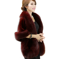 New Women Bridal Jacket Coat Faux Fur Wedding Shawl Evening Party Dress Ladies Wraps Fur Shoulder Capes Slim Fake Fur Cloak O485