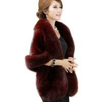 New Women Bridal Jacket Coat Faux Fur Wedding Shawl Evening Party Dress Ladies Wraps Fur Shoulder Capes Slim Fake Fur Cloak O485