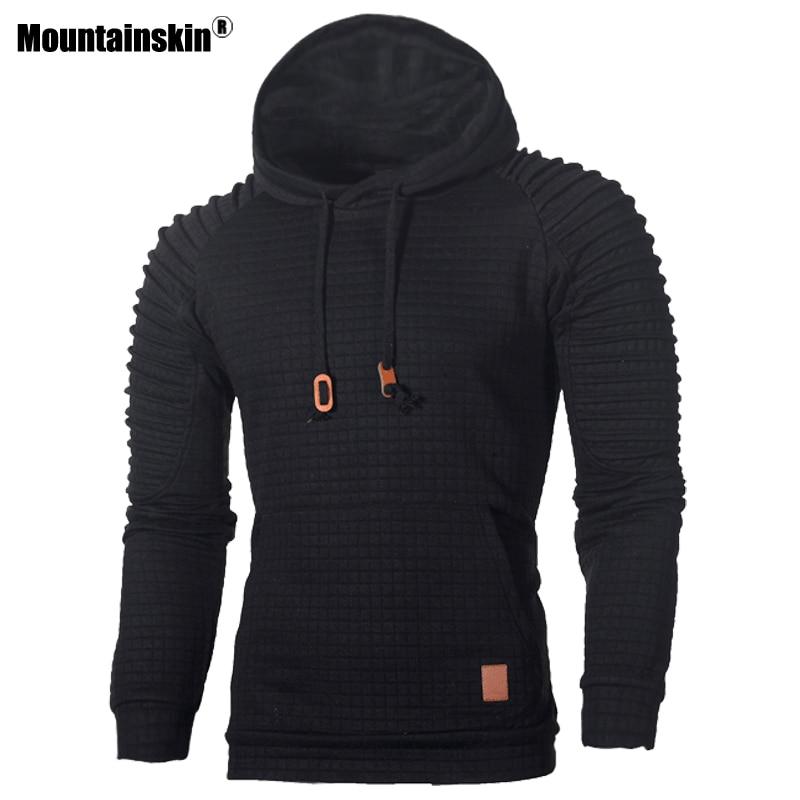 Mountainskin Men's Hoodies Fashion Striped Autumn Warm Long Sleeve Hooded Sweatshirt Slim Male Casual Coat Mens Clothing SA574