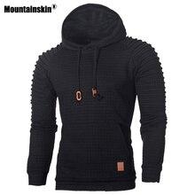 Mountainskin męskie bluzy modne w paski jesień ciepły z długim rękawem bluza z kapturem szczupły mężczyzna płaszcz na co dzień odzież męska SA574