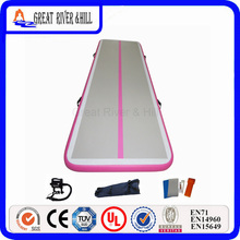 Great River Hill Inflatable Gym Air Track Used For Bodybuilding Training Made By Hand Size 5m x 1m 0.1m With Competitive Price