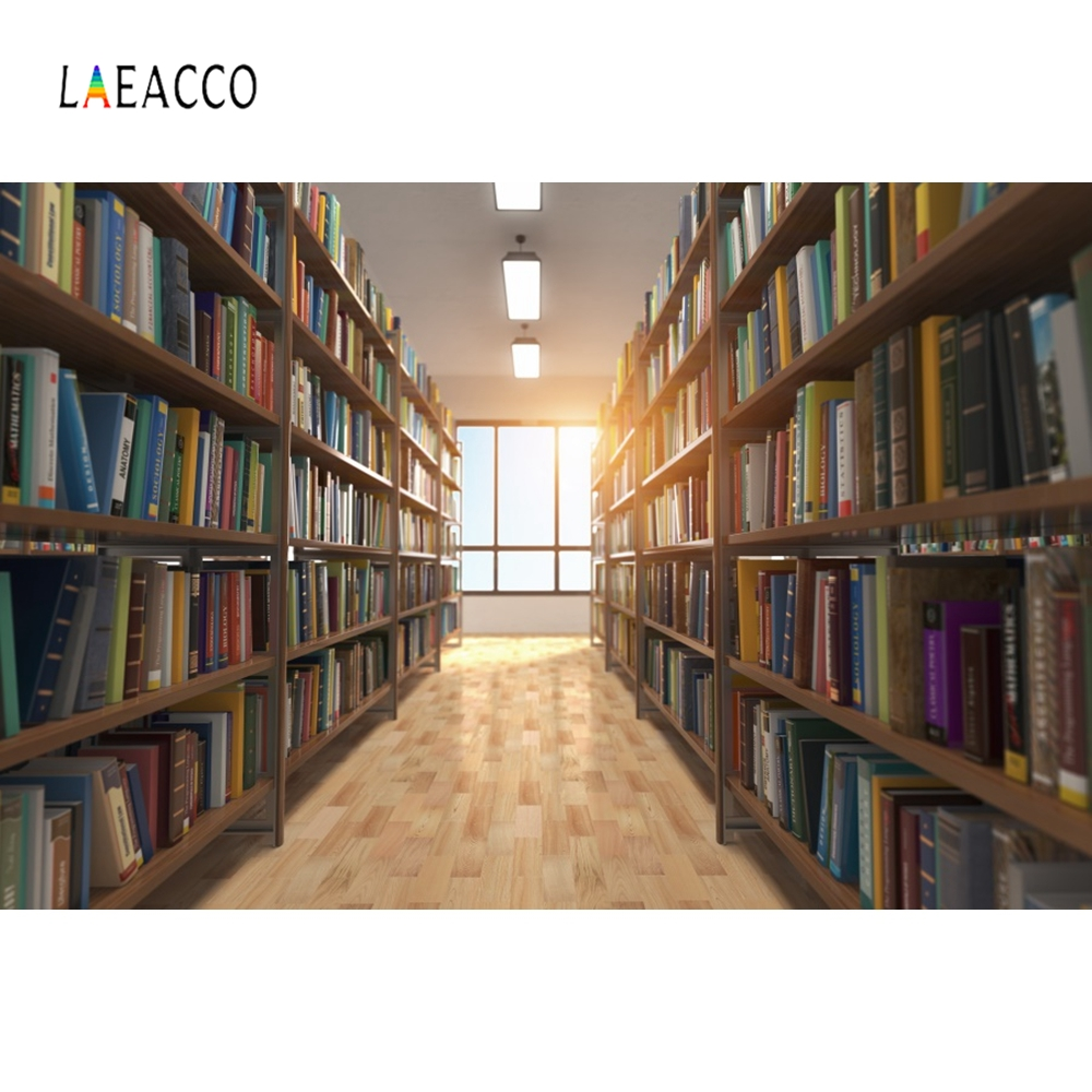 Laeacco Modern library Backdrop Baby Student Portrait Photography Background Customized Photographic Backdrops For Photo Studio in Background from Consumer Electronics