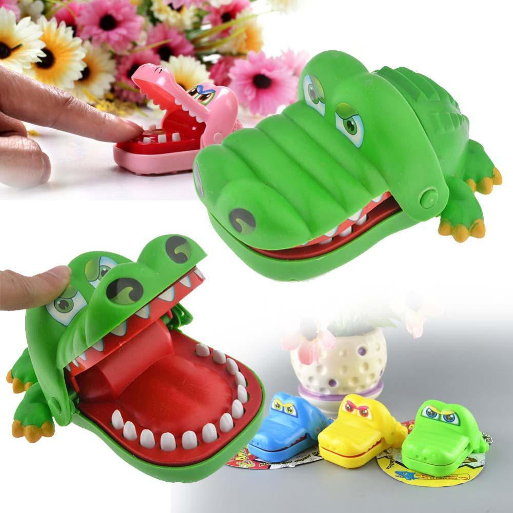 Vitoki 7.5cm  Practical Jokes Mouth Tooth Alligator Hand Children's Toys Family Games Classic Biting Hand Crocodile Game