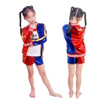 Suicide Squad Harley Quinn Cosplay Costume Kids Girls Halloween Carnival Fancy Dress Sets Jacket Underwear T shirt