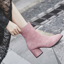 SALCXO ankle boots for women winter boots women fashion boots for woman worker shoes womens short boots free shipping &7063