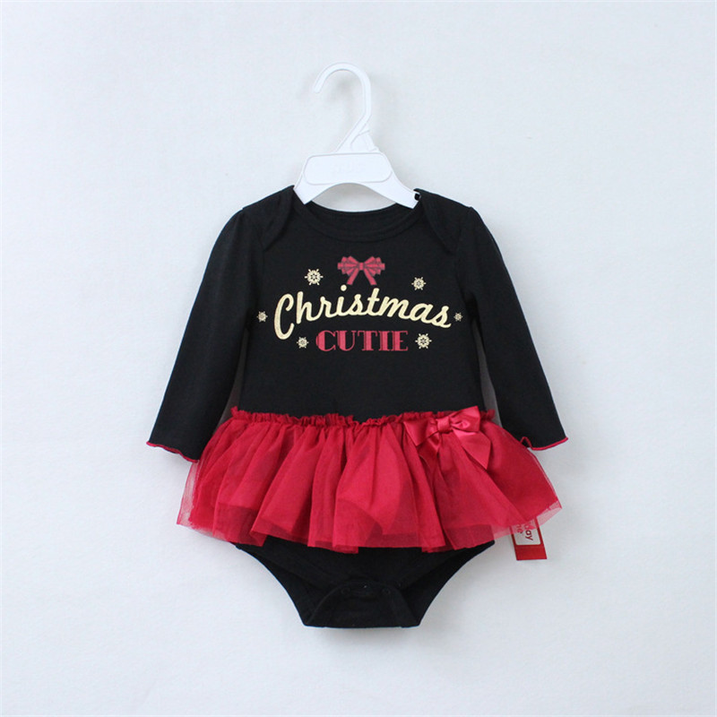 Xmas Newborns My First Christmas Black Bodysuit Red Lace Tulle Pettiskirt Baby Dress Newborn Baby Tutu Skirts NB-12M my first animals