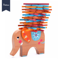 MiDeer Wooden Stacking Balance Elephant Educational Toys For Children Play Puzzle Games Kids Gift