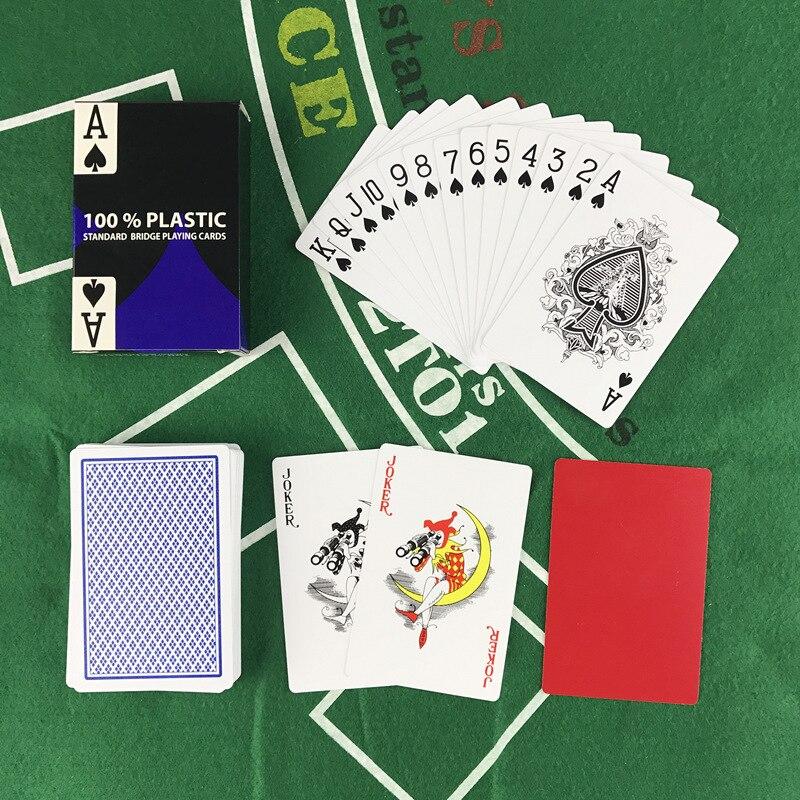 2 rinkiniai / partija Baccarat Texas Hold'em plastikinių kortelių - Pramogos - Nuotrauka 2