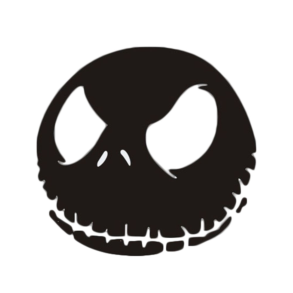 Newest reflective skull car stickers ghost rider funny decal car sticker black and white car0634 in car stickers from automobiles motorcycles on