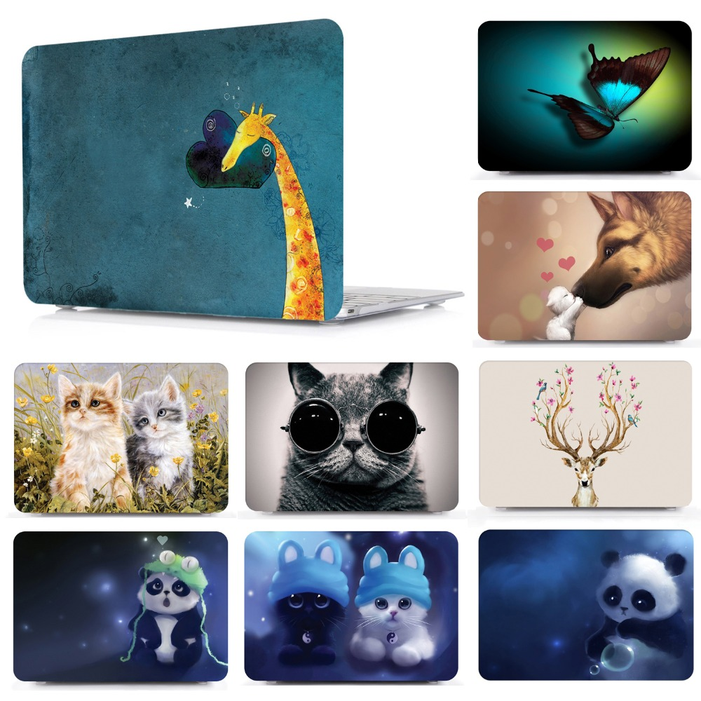 Mac Cases Shining Cute Beautiful Painting Plastic Hard Shell Compatible Mac Air 11 Pro 13 15 Mac Book Cases Protection for MacBook 2016-2019 Version