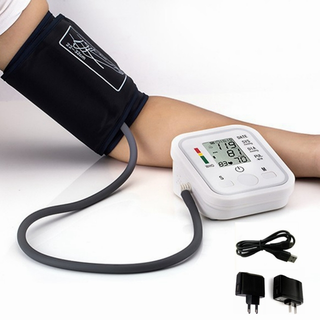 arm blood pressure bp monitor tonometer hematomanometer sphygmomanometer pulsometros health monitors care for heart nonvoice