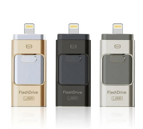Free Shipping NEW 16GB 3IN1 I-Flash Drive USB Memory Stick HD U-Disk for Android IOS iPhone PC