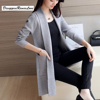 DRL Brand 2017 Spring And Autumn Women S Top Medium Long Cardigan Outerwear Sweater Knitted Sweater