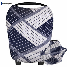 Lanxuanjiaer Nursing Cover Scarf New fashion Breastfeeding Stretchy Multi-Use Baby Car Seat Canopy Shopping Cart Cover