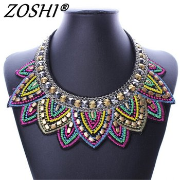 Female vintage choker pendants&necklaces big boho necklaces ethnic bohemian jewelry statement tribal Colorful bijoux femme mujer
