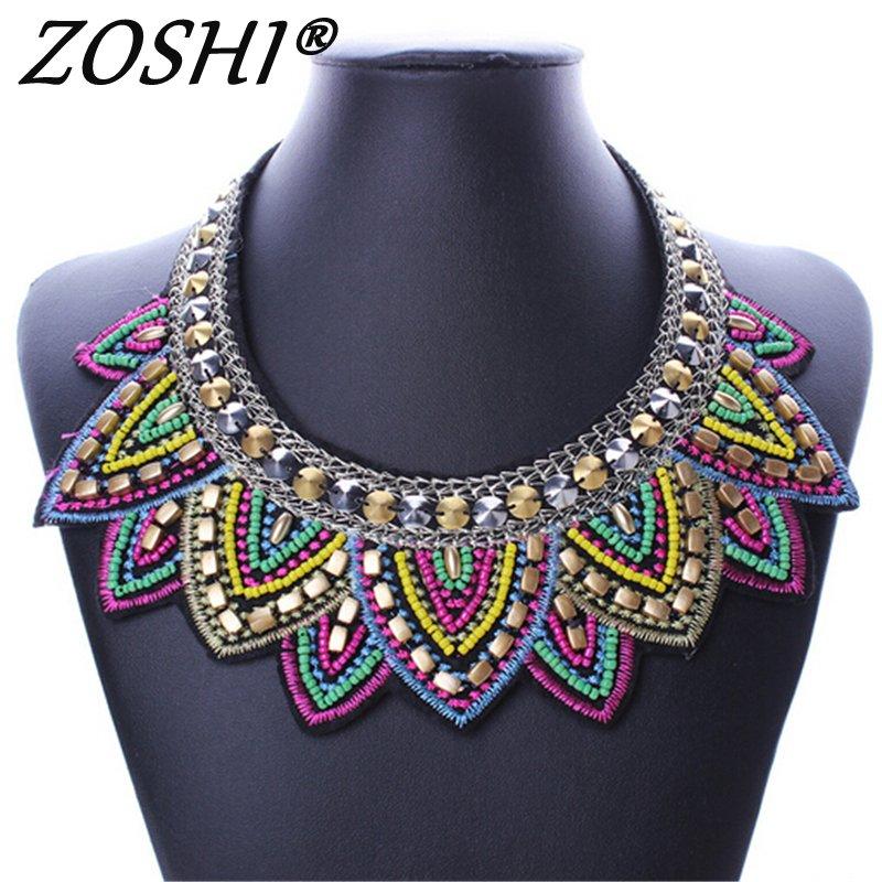 Female vintage choker pendants&necklaces big boho necklaces