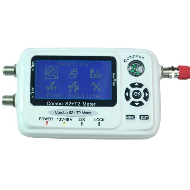 SF-560 ANEWKODI Buscador de Satélite Digital Signal Meter Buscador Sáb Plato con Brújula DVB-S/T/S2/T2 SF 560 mejor que SF-500 envío