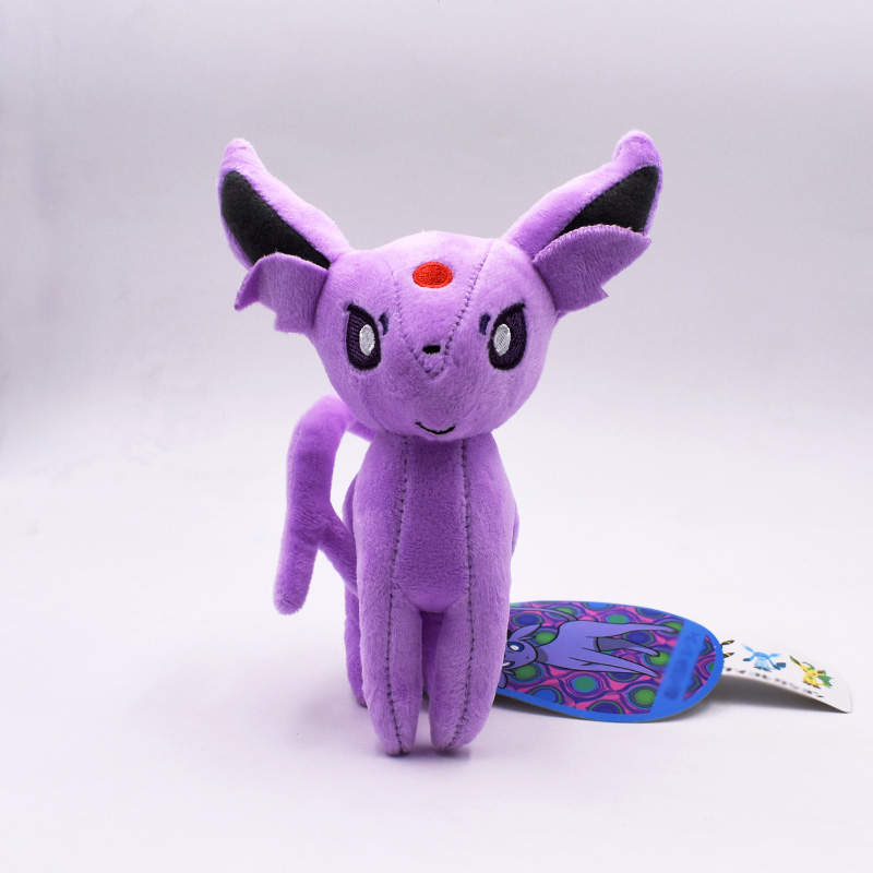 16-18cm Eevee Standing Espeon Kawaii Cartoon Plush Toy Peluche Soft Stuffed Doll Gift For Kids Christmas Free Shipping
