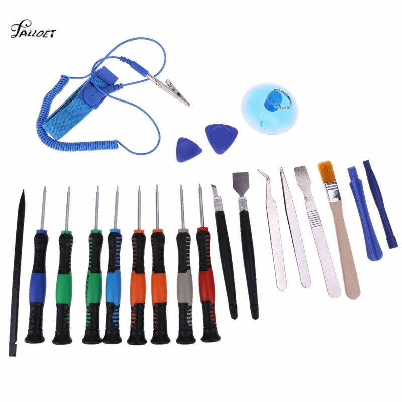 21 in 1 Smart Telefon Reparatur Werkzeuge Set mit Anti Statische Band für PC Laptop Notebook Tablet Opener Tool ferramenta