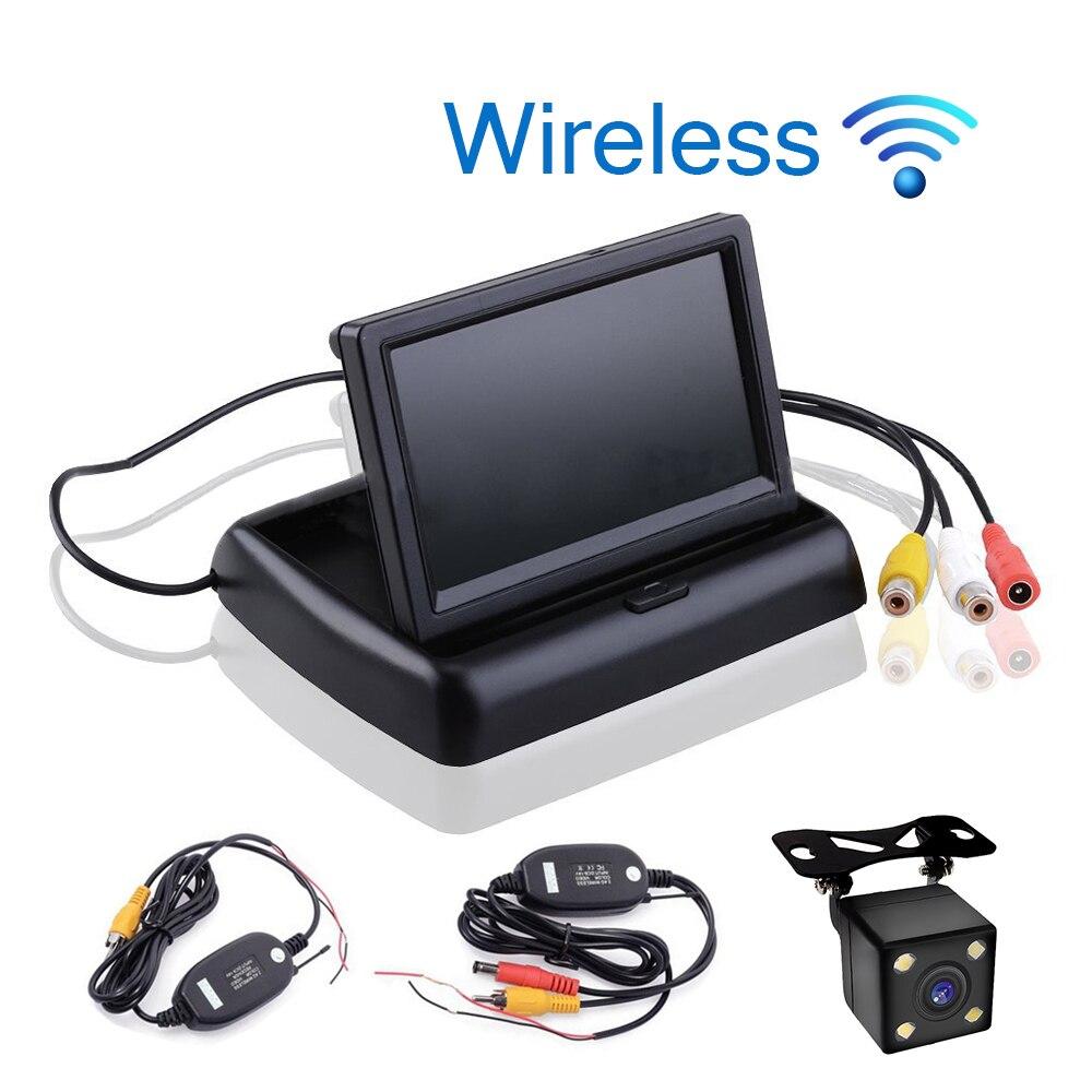 imágenes para Styling Car Wireless 4.3 pulgadas TFT Lcd Monitor Del Coche pantalla de Pantalla de Visión Trasera Inversa Cámara de Reserva Del Coche TV Wifi