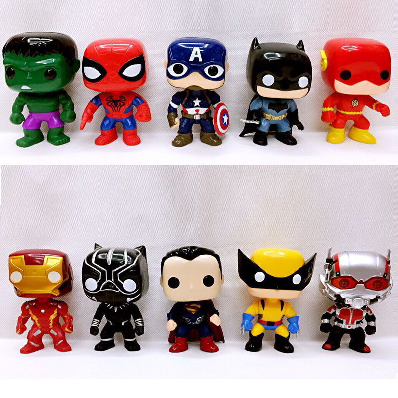 100% True Wholesale 90pcs/lot Super Man Marvel Spider Man Hulk Model Action Toys The Avengers Figure Toys Gifts For Boys Toys & Hobbies