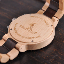 BOBO BIRD Luxury Wooden Watch Men Chronograph Military Quartz Wristwatches
