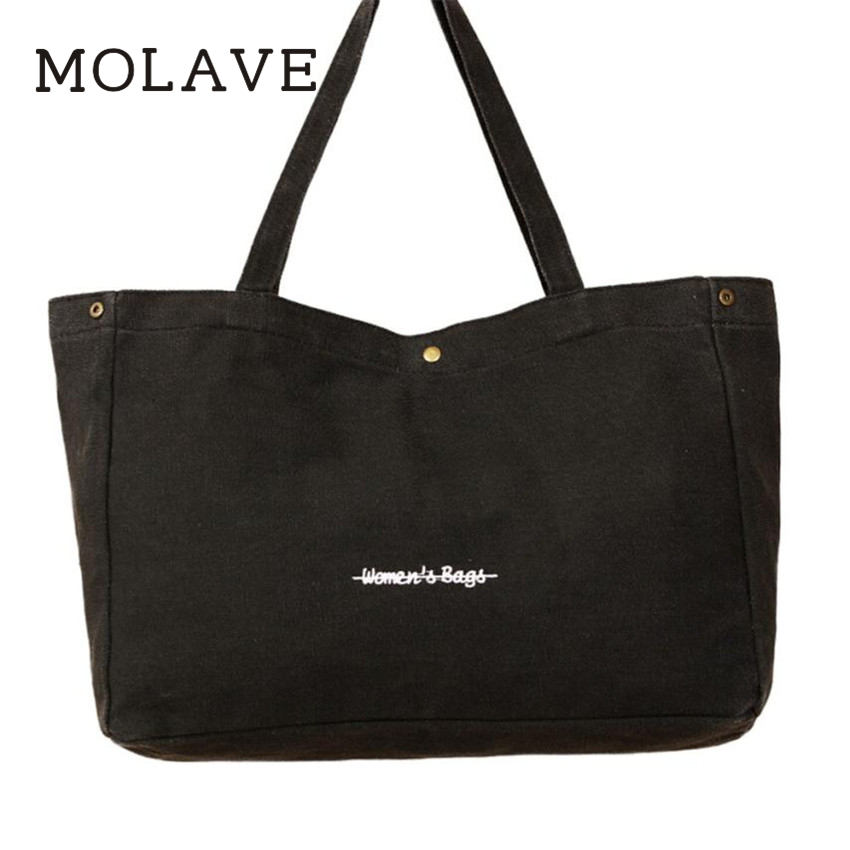 MOLAVE	Handbag	bag female Solid bags for women hasp Fashion Women Girls Canvas Shopping Handbag Shoulder Tote Shopper Bag Jan30