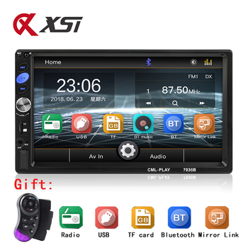 "Car Stereo Bluetooth 7"" HD Touch Screen MP5 Player Support BT/FM/AUX/USB/SD Mirror Link Remote Control 2 din Car Radio Autoradio"