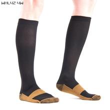 20-30 мм рт. ст. окончил сжатия Носки фирмы Давление циркуляции качество колено высокие ортопедические Поддержка Чулки для женщин шланг носок