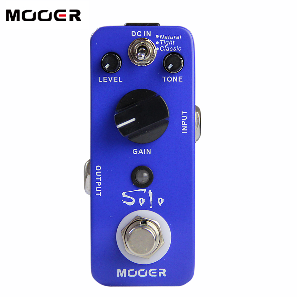 MOOER Solo High-gain Distortion Effects Pedal 3 Working Modes: Natural/Tight/Classic Guitar effect pedal mooer flex boost guitar pedal with wide gain range boost enough working along as a best overdrive