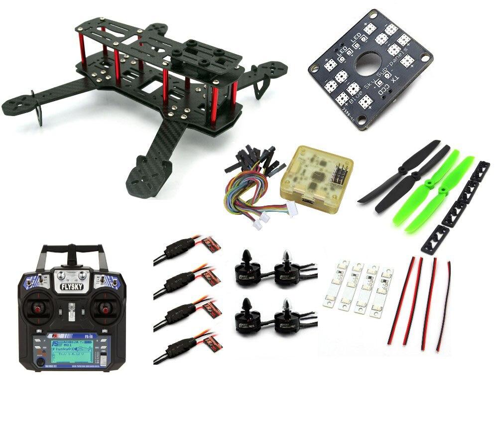 цены  QAV250 C250 Quadcopter fpv RC plane Carbon Fiber Frame Motor 12A Esc CC3D Flight Control-A011 drone quadrocopter dron quadcopter
