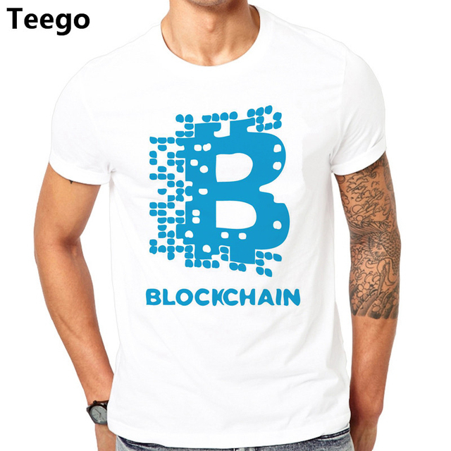 Bitcoin T shirt men Bitcoin Cryptocurrency Blockchain T Shirts Men's Top Design Short Sleeve Fashion Custom XXXL Couple T-Shirts