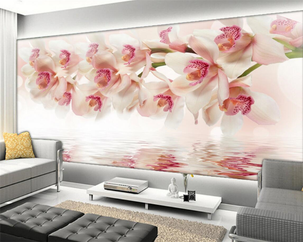 Wallpaper Custom Mural Non Woven Room 3 D Setting Wall Carbuncle Orchid