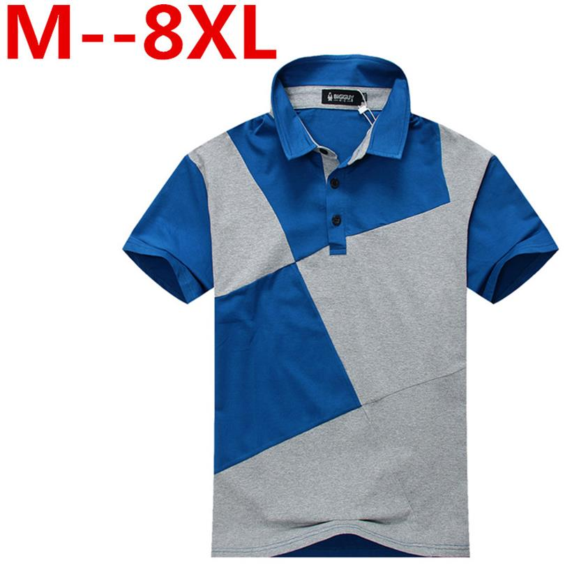 10XL 8XL 6XL Brand Clothing New Men Polo Shirt Men Business & Casual Solid Male Polo Shirt Short Sleeve Breathable Polo Shirt