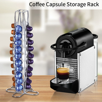 2019 Nespresso กาแฟแคปซูล Tower Stand Coffee Pod Holder Dispenser เหมาะกับ Nespresso แคปซูลเก็บกาแฟกรอง