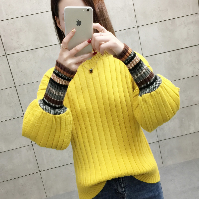 see Photo 54 2008 In The Version Autumn See Pullover Chart Sweater District Korean Chart Actual 5th I Floor High collar New Of qTfwII