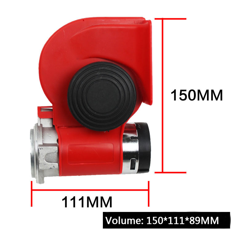 High Super GZHAOER Loud Car Motorcycle Truck 24V Red Compact Dual - Auto Replacement Parts - Photo 4