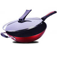 281210 32cm Frying Pan Toughened Glass The Lid Heat Collecting Ring Bottom Of The Pot Anti