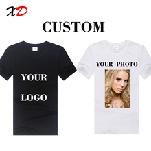 custom summer short Sleeve o-neck T Shirt casual round neck men top print photo text funny cool shirts black white free shipping